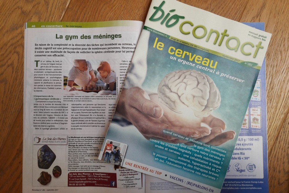 Exercer son cerveau - Biocontact sept 2017