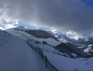 Sur les pistes de ski